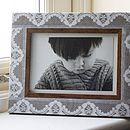 Rustic Lace Print Frame