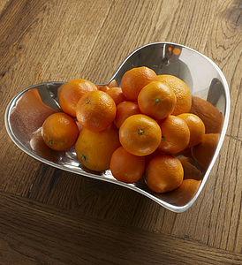 Aluminium Heart Fruit Bowl
