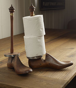Shoe Last Kitchen Roll Holder - kitchen accessories