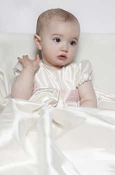 Christening Gown - Poppy silk Christening gown