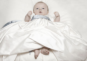 Christening Gown - Echo with blue sash