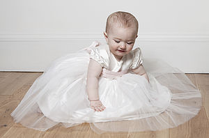 Silk And Tulle Christening Dress 'Princess' - christening wear