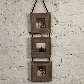 Triple Wooden Photo Frame