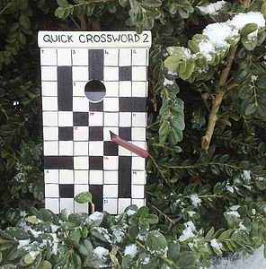 Personalised Crossword Bird Box - garden & outdoors