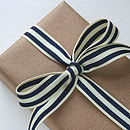 Navy box stripe