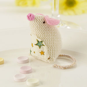 Personalised Knitted Mouse - wedding favours