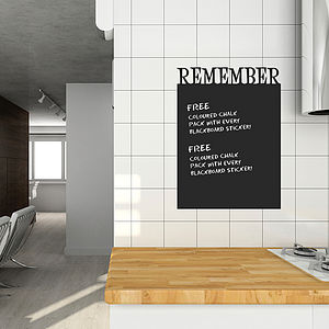'Remember' Chalkboard Wall Sticker