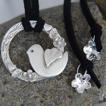 Personalised Silver Dicky Bird Tie Necklace