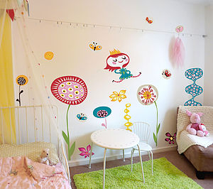 In My Garden Fabric Wall Stickers - children's room accessories