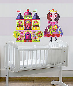 Princess & Castle Fabric Wall Stickers - wall stickers