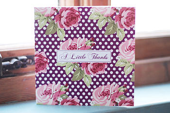 'A Little Thanks' Rambling Rose Card