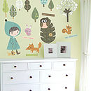 In The Woodland Fabric Wall Stickers