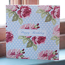 'Happy Birthday' Rambling Rose Card