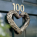 Country Chic Wicker Heart