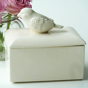 Ceramic Bird Butter Dish