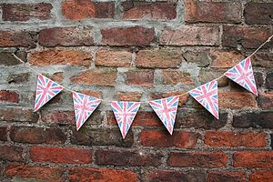 Handmade Wooden Union Jack Bunting - room decorations