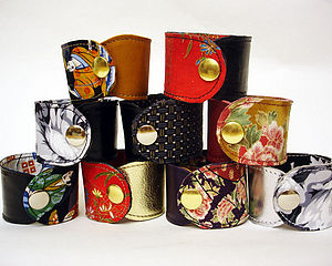 Reversible Leather Cuffs - women's jewellery