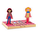 Wooden Magnetic Dress Up Dolls