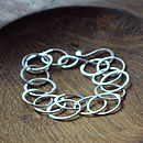 Small Round Link Silver Chain Bracelet