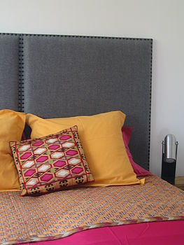 Headboard Upholstered In Wool Fabric