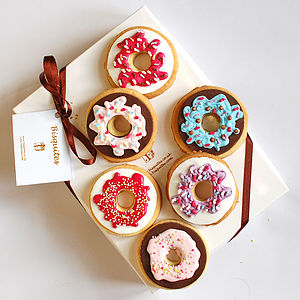 Box Of Six Biscuit Doughnuts - biscuits