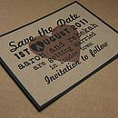 Recycled Manilla Save the Date Card