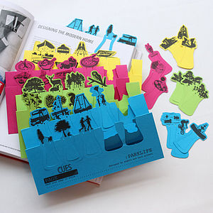 Multipack Of Card Page Markers - desk accessories