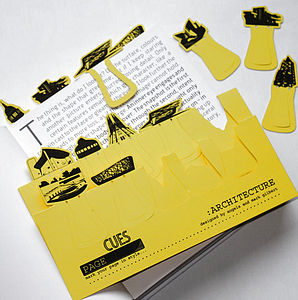 Set Of Ten Architecture Card Page Markers - bookmarks