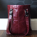 Leather Tab Tote With Choice Of Colourful Print Linings