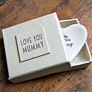 ' Love You Mummy ' Heart Dish