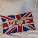 Personalised Union Jack Rectangular Cushion
