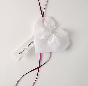 Origami Heart Invitation Or Favour - invitations