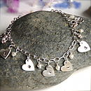 Personalised Heart Charm Necklace Or Bracelet
