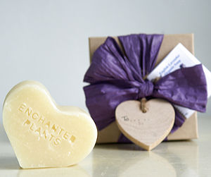 English Lavender Organic Soap Heart Gift Box - soaps