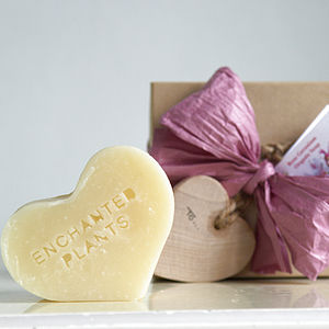 Rose Geranium Organic Soap Heart Gift Box - bath & shower
