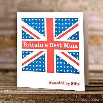 Personalised 'Britain's Best' Greetings Card