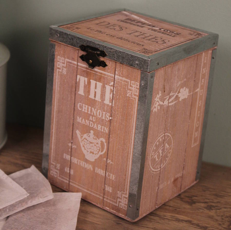 wooden tea chest by möa design | notonthehighstreet.com