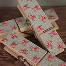 Rose garden magnetic pegs blue