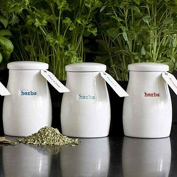 Set Of Four Herb Pots