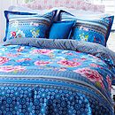 Thumb chinoise blue duvet set