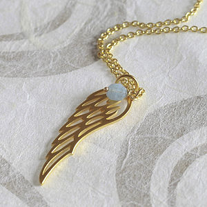 Gold Angel Wing Necklace - women's jewellery