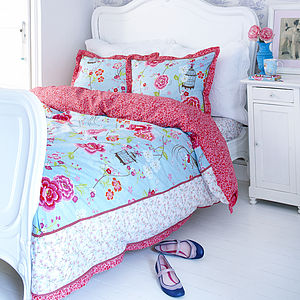 Birds Of Paradise Blue Duvet Sets By PiP