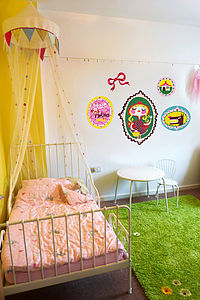 Red Riding Hood Fabric Wall Stickers - painting & decorating