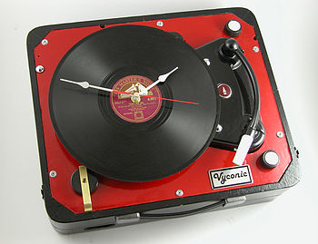 Vintage Phillips Portable Record Player Clock