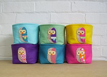 Felt Storage Box Owls