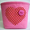 Small Felt Storage Box Heart