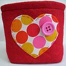 Small Felt Storage Box Heart