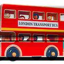 Natural Wood London Bus