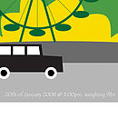 'London Traffic' Personalised Poster - text