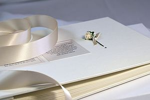 Wedding Guest Book And/Or Photo Album - albums & guestbooks